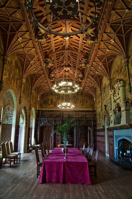 """Cardiff castle. Not surprisingly, the gothic revival style was seen as appropriate inside """"real"""" medieval castles."""