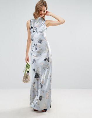Asos Vestido de satén midi de dama de honor estilo años 40 con costuras de ASOS DESIGN Zj2RzLSzT
