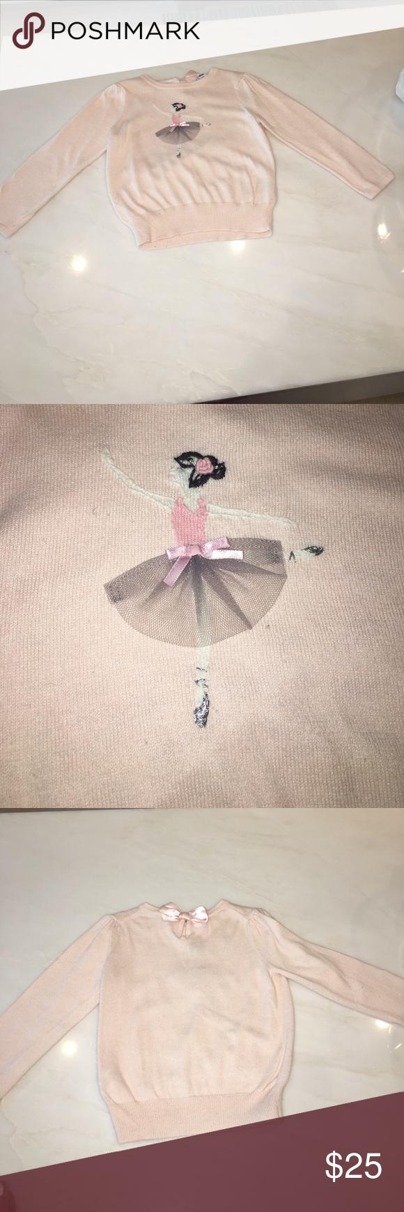 Janie and jack light pink ballerina sweater Janie & Jack