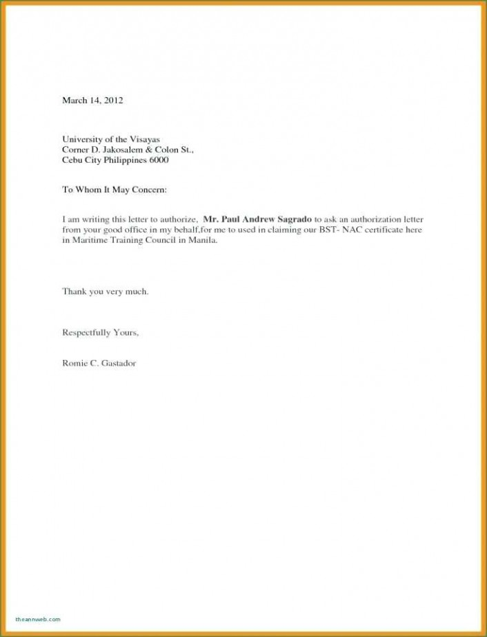 Sample Letter Of Authorization To Pick Up from i.pinimg.com