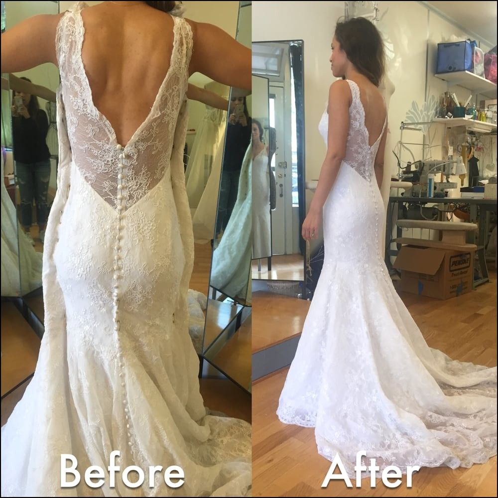Wedding Dress Alterations before and after Wedding dress