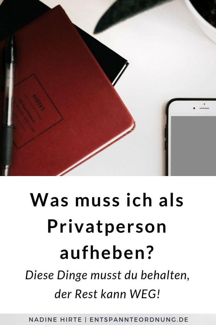 Retention Periods For Private Persons Checkliste Zum Download