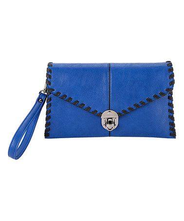 Another great find on #zulily! Cobalt Whip-Stitch Clutch #zulilyfinds