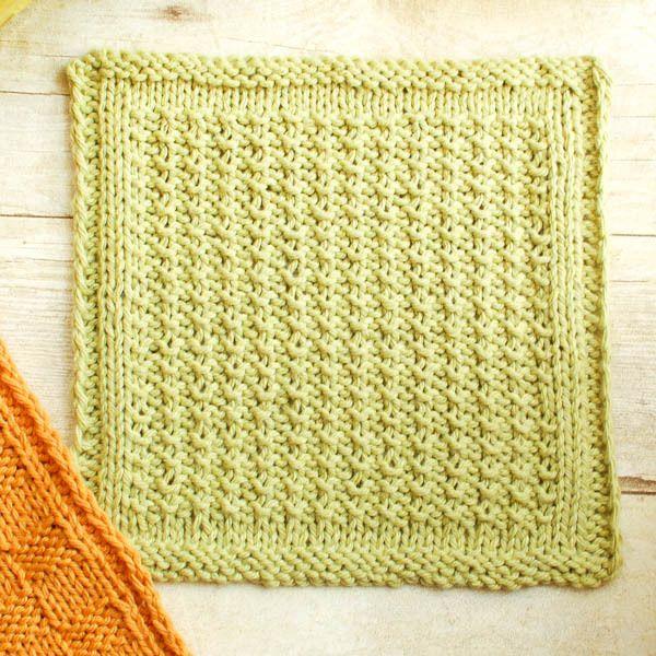 Textured Knit Dishcloth | Toallas, Tejido y Ideas