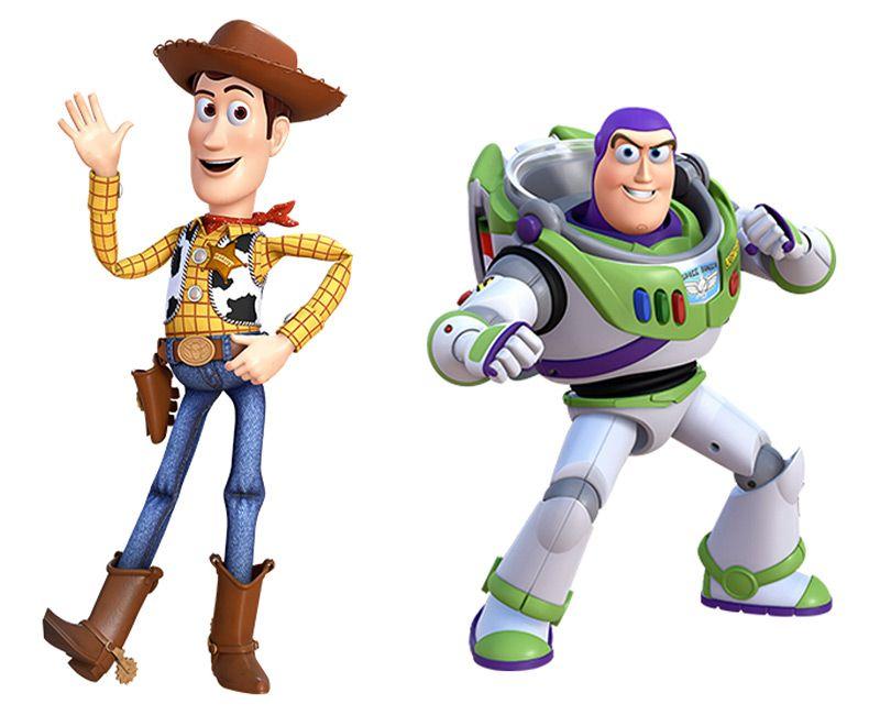 foto de Woody Pride & Buzz Lightyear character artwork from