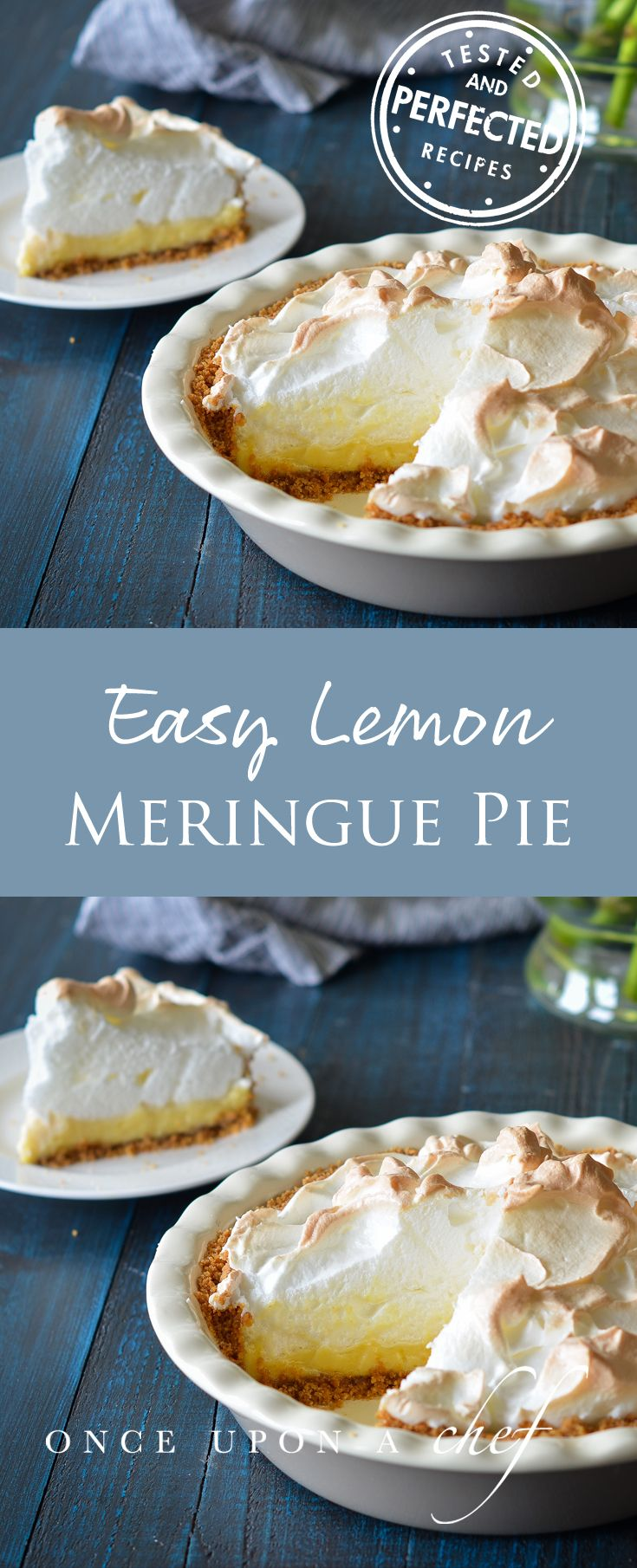 Easy Lemon Meringue Pie #lemonmeringuecheesecake