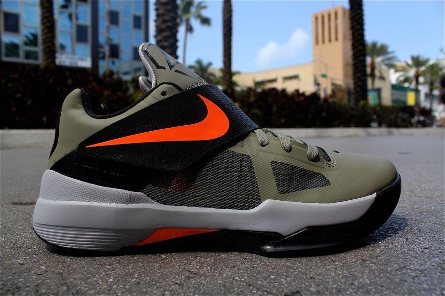 92b8e4ef326d Nike Zoom KD 4 Rogue Green   Total Orange - Black - Wolf Grey ...