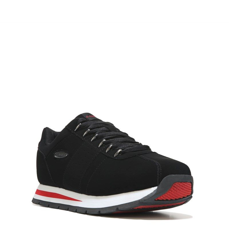 Lugz Mens Run Classic Memory Foam Jogger Shoes BlackWhiteRed