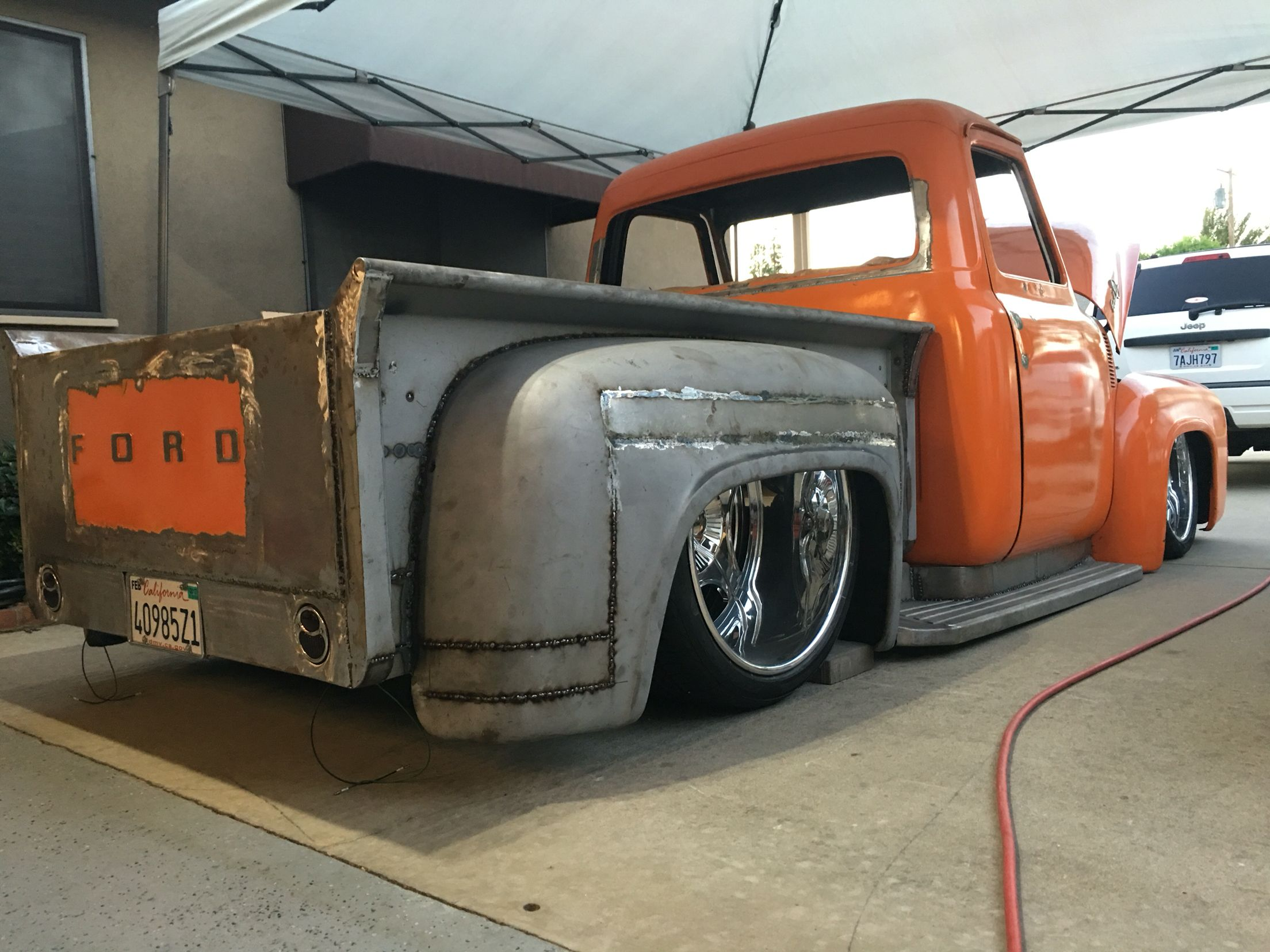 53 ford f100 short bed stepside new build custom lowered v8 show 53 56 f100 pinterest ford ford trucks and cars