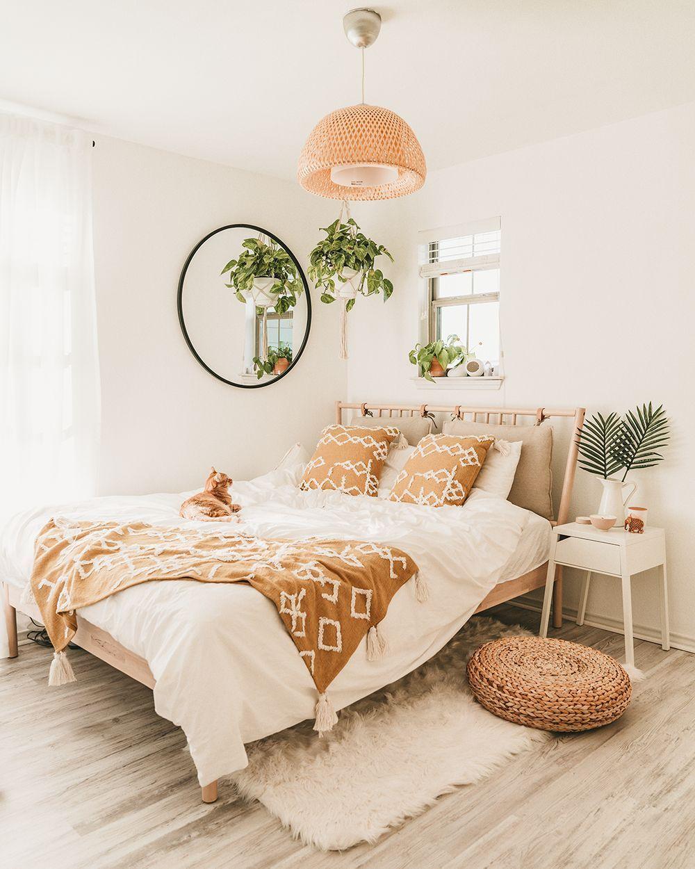 IKEA Bedroom Makeover For Under 600 in 2020 Bedroom