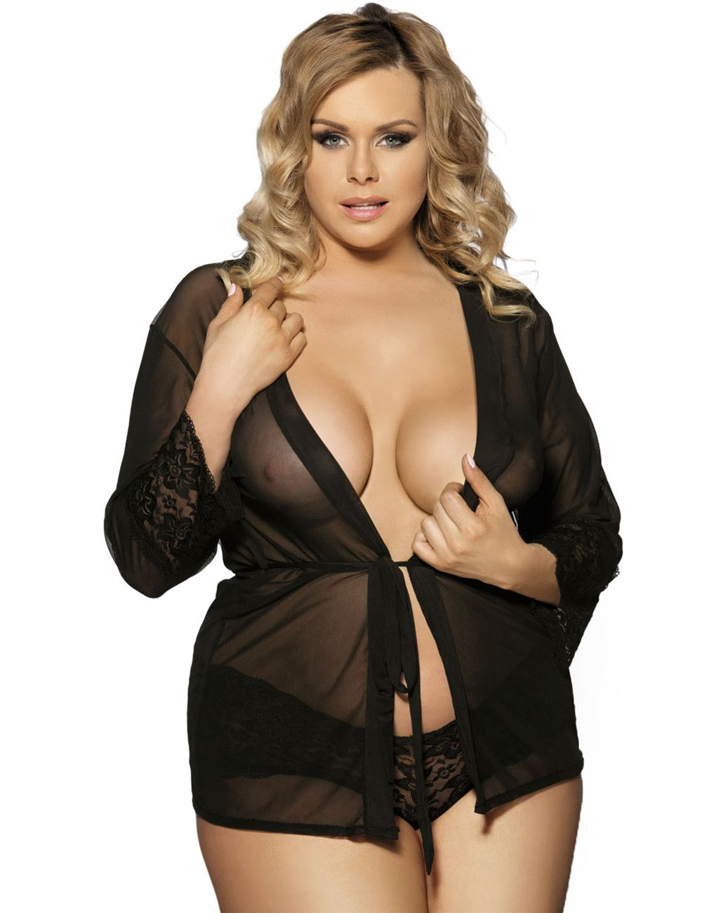 61a16f823b4c4 Plus Size black Babydoll   Lingerie For Fat Women From  imsexy4u.com ...