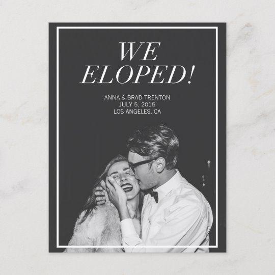Modern Wedding Ceremony Songs: Modern Photo Wedding Announcement