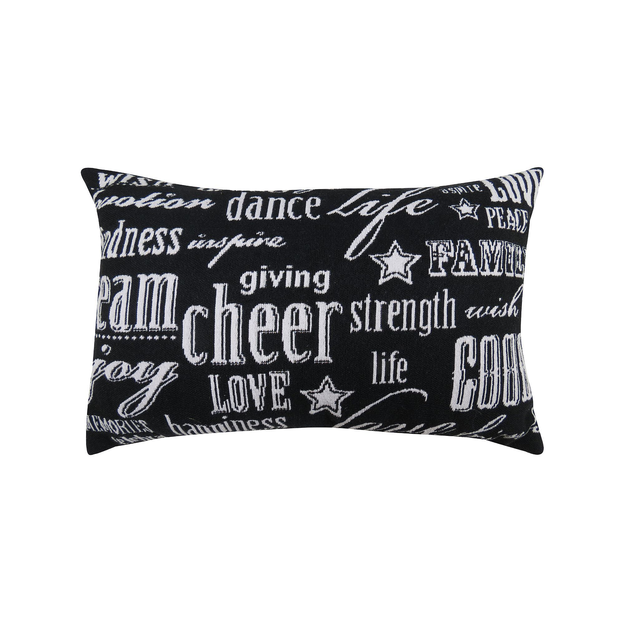 Wish Cuscini Divano Park B Smith Cheer Black Throw Pillow Products Pinterest