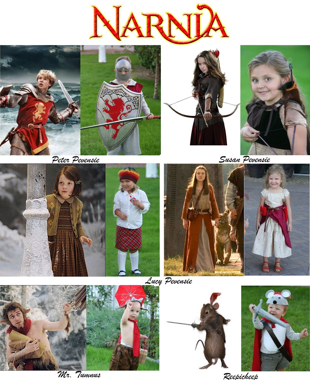 chronicles of narnia costumes via the weisse guys costume ideas pinterest the o 39 jays. Black Bedroom Furniture Sets. Home Design Ideas