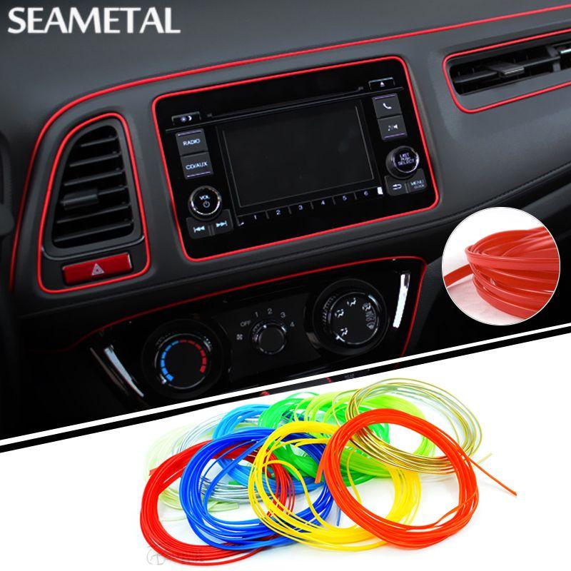 5 M/partij Universele Auto-Styling Sticker op Auto Interieur Auto ...