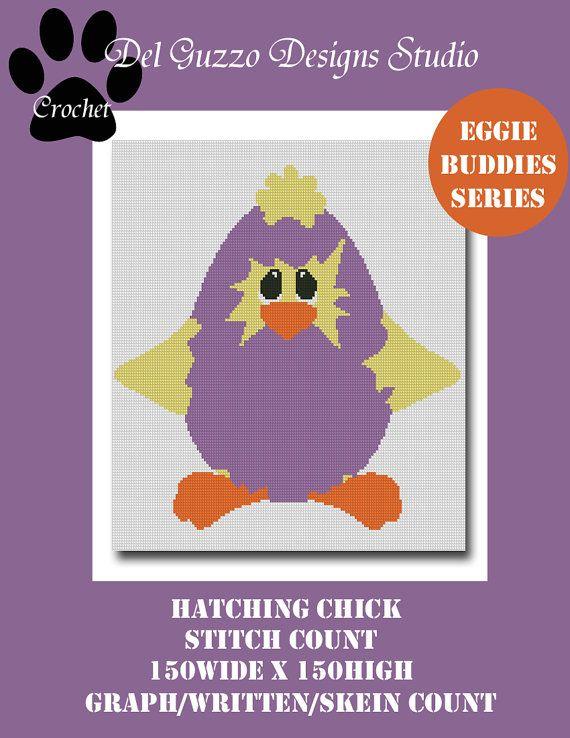 Easter Chicken Crochet Graph Graphghan by DelGuzzoDesignStudio