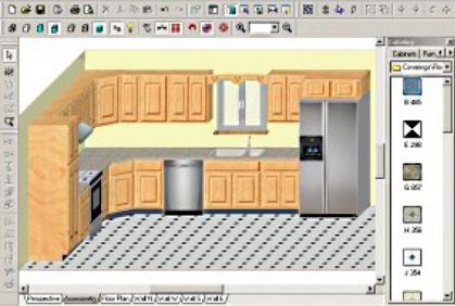 Kitchen Cabinet Design Software Distressed White Table Top Reviews 3d Remodeling Plans And Free Downloads
