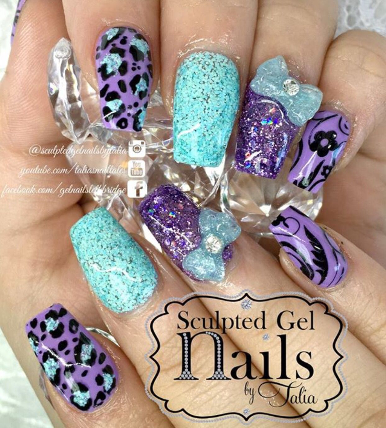 Pretty purple and teal | Nail Bling! | Pinterest | Teal, Diva nails ...
