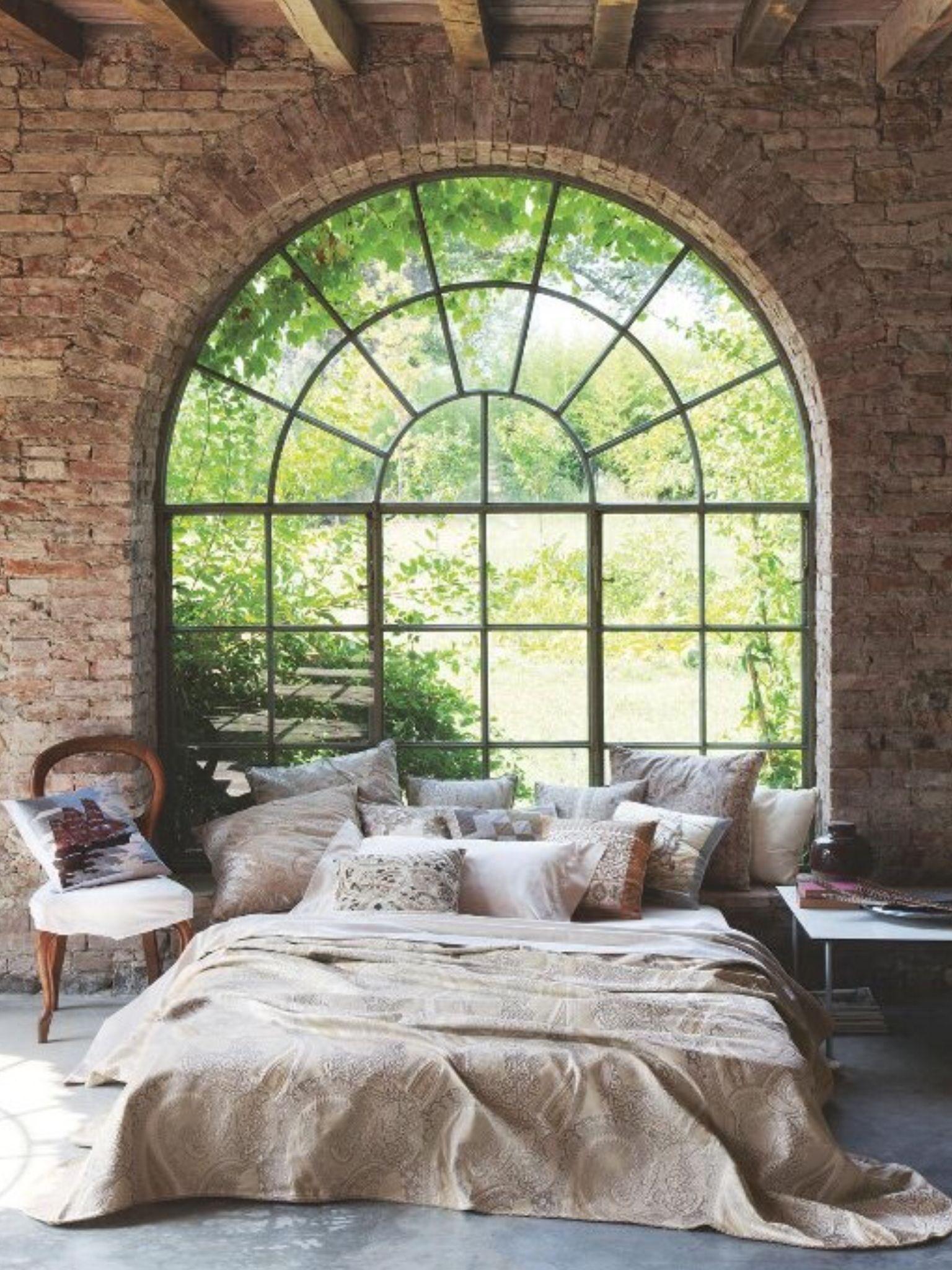 Huge windows stone floors uc  My cave goals  Pinterest  Stone