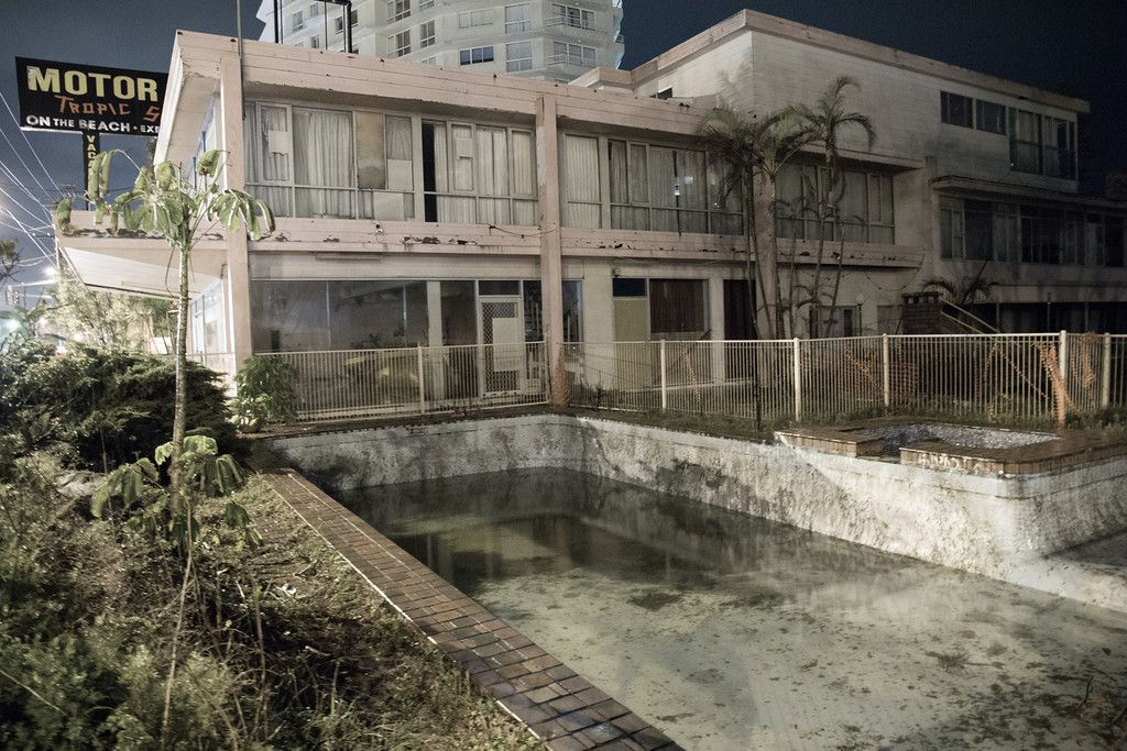 Abandoned Motel Along The Gold Coast Highway At Palm Beach
