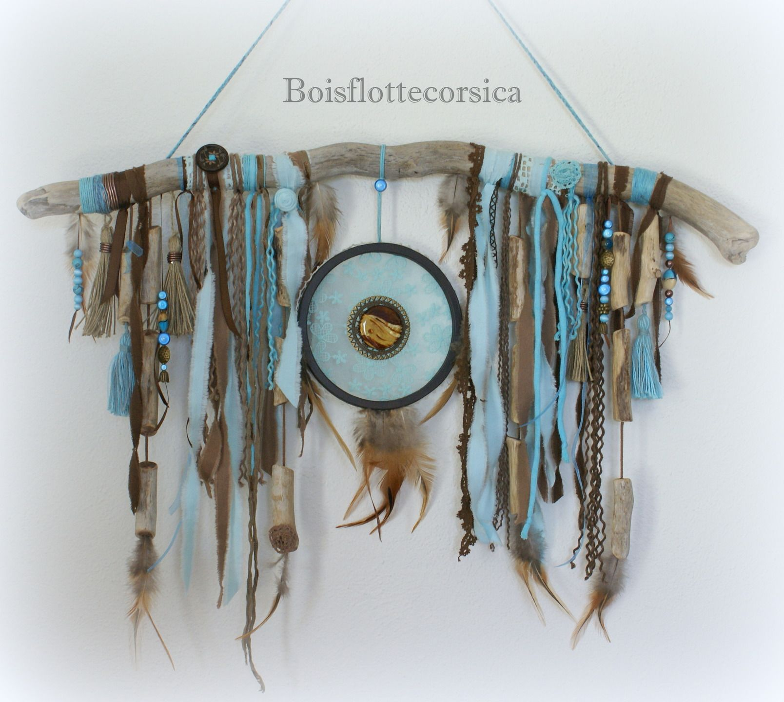 dreamcatcher bois flott en turquoise et chocolat. Black Bedroom Furniture Sets. Home Design Ideas