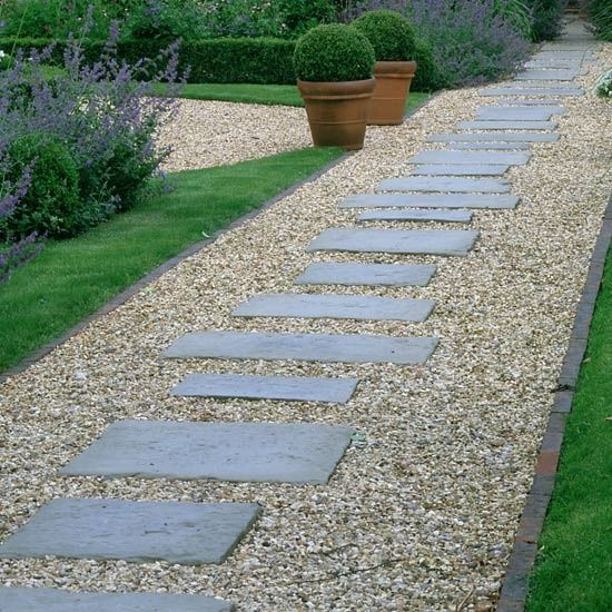 Like The Limited Amount Of Concrete W These Pavers Flagstone Paving Gravel Pathway