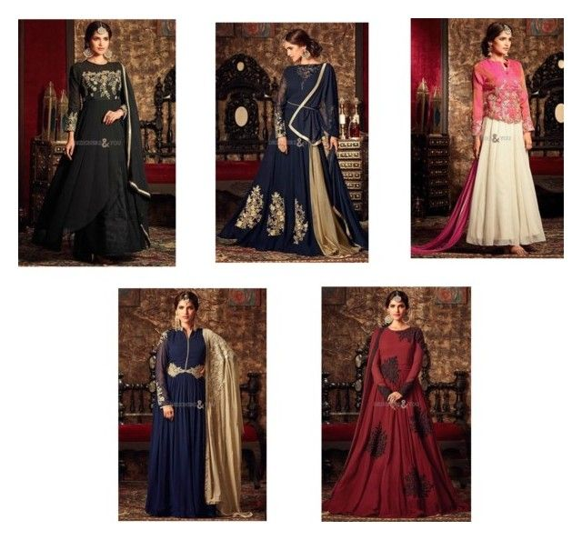 Irresistible Georgette Embroidered Designer Party Wear Evening Gown ...