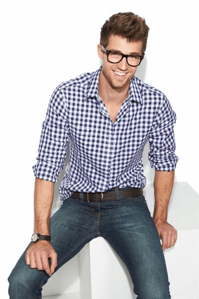 Frisuren Männer Mit Brille Mann Frisur Ideen Pinterest Retro