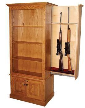 American Winchester Bookcase With Hidden Gun Safe In 2019