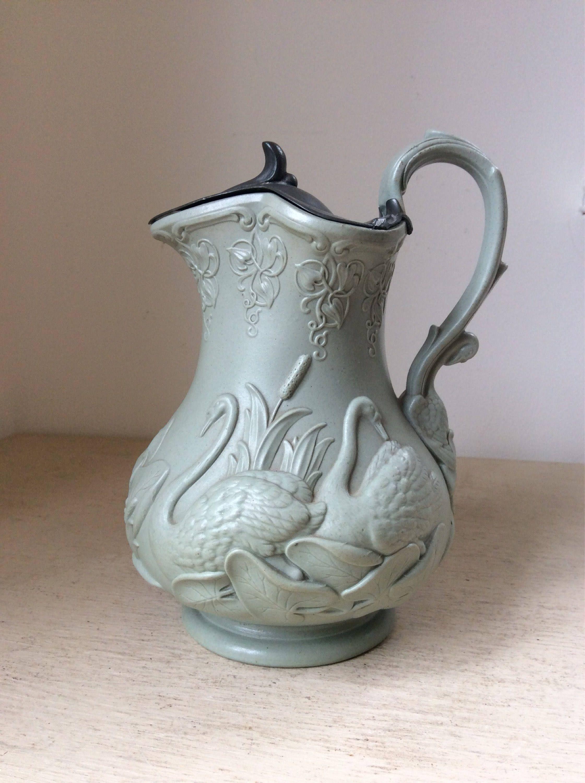 c1850s Antique Victorian Ridgway & Abingdon Relief Moulded Stoneware ...
