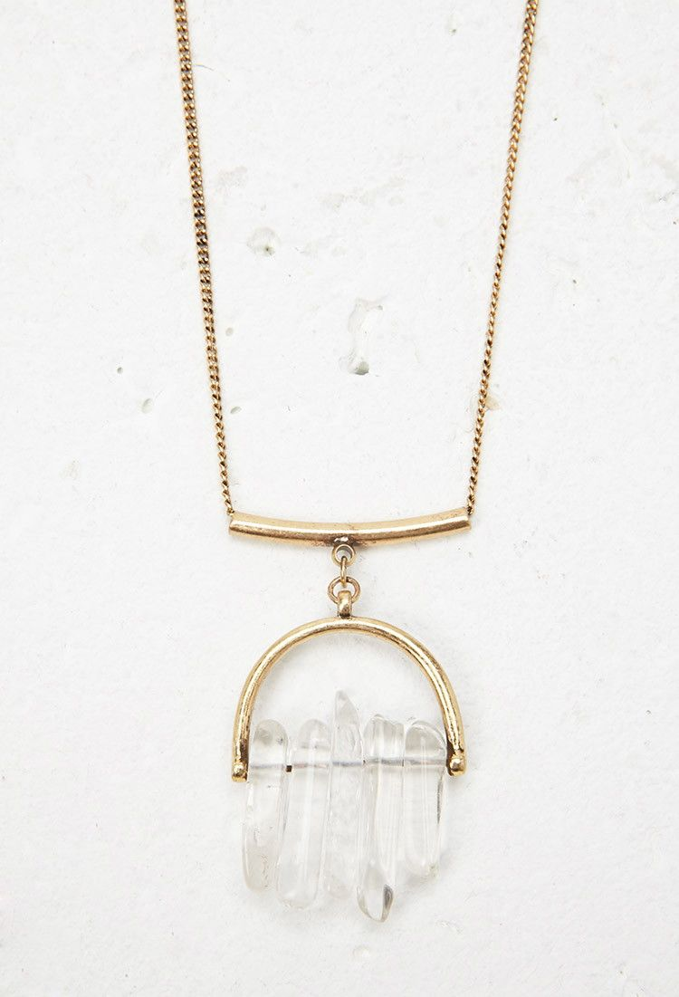 Faux Stone Pendant Necklace | Forever 21 Canada