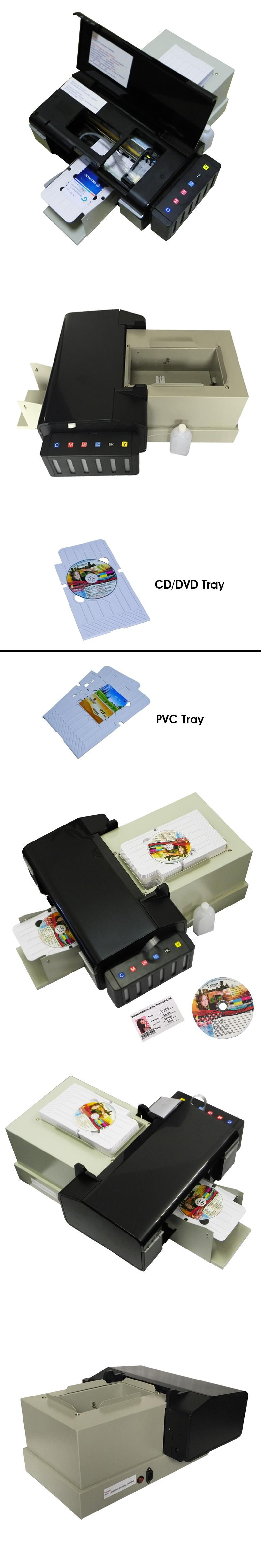 Automatic CD Printer For Epson L800 PVC Card Printers with 51pcs CD PVC Tray DVD