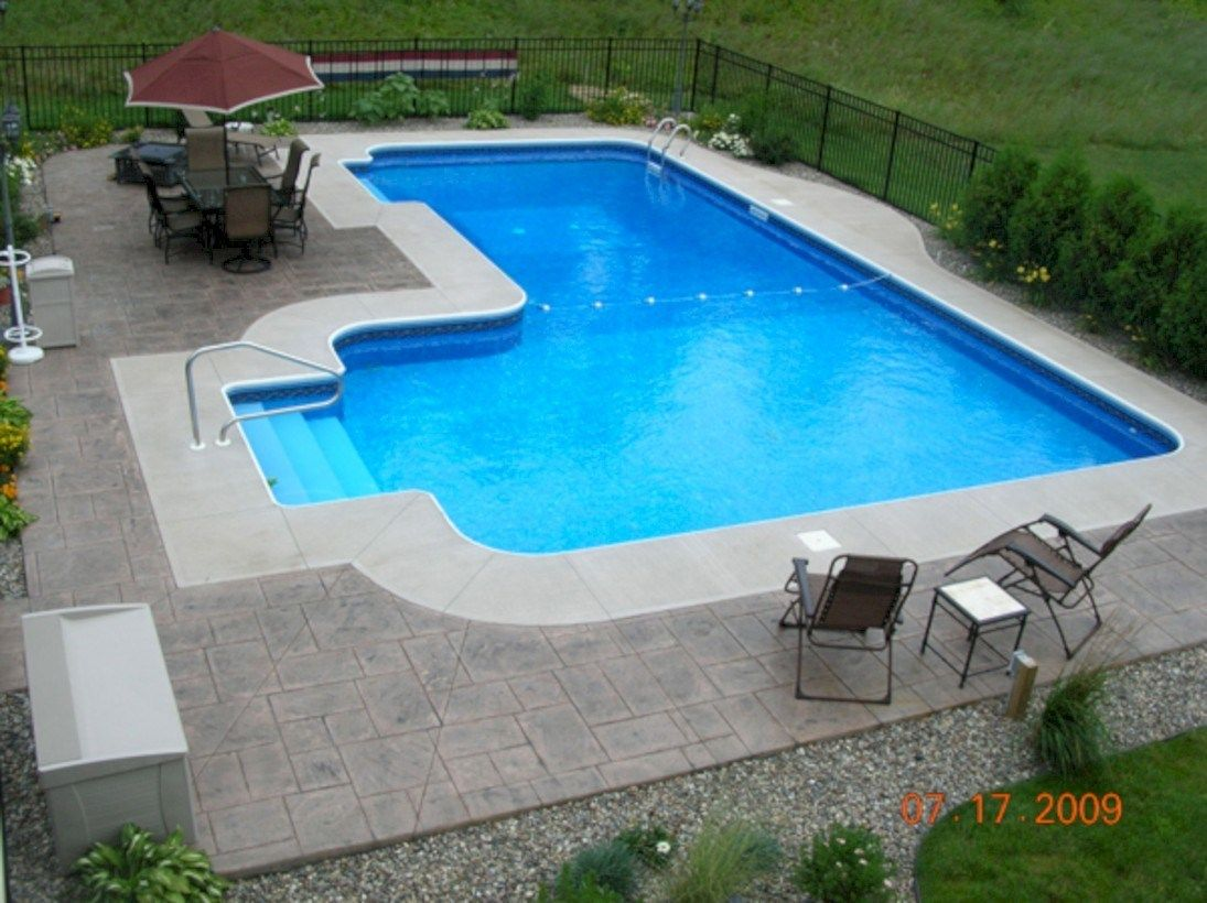 60 Amazing Lazy L Swimming Pool Ideas Pool Landscaping Backyard