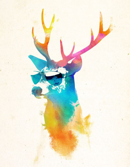 Sunny Stag Art Print By Robert Farkas Animal Canvas Art Prints Graphic Art Print