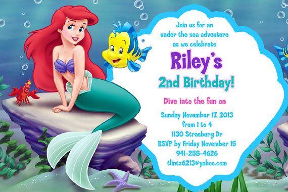 bf182883a6f08379ba4dc03fb74d07bd the little mermaid birthday invitations www beeshower com,Little Mermaid Birthday Invitations