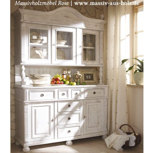 buffetschrank in shabby chic wei massiv holz kiefer auch sonderanfertigungen m glich www. Black Bedroom Furniture Sets. Home Design Ideas