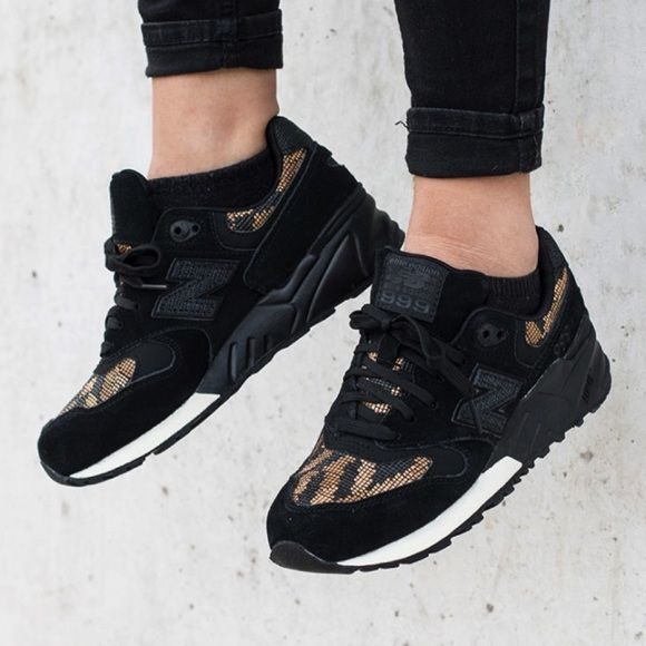 new styles f8fec d5905 New Balance Black + Gold 999 Sneakers •The New Balance 999 is a heritage  running shoe turned collectible street icon  Weather-resistant leather  upper for a ...