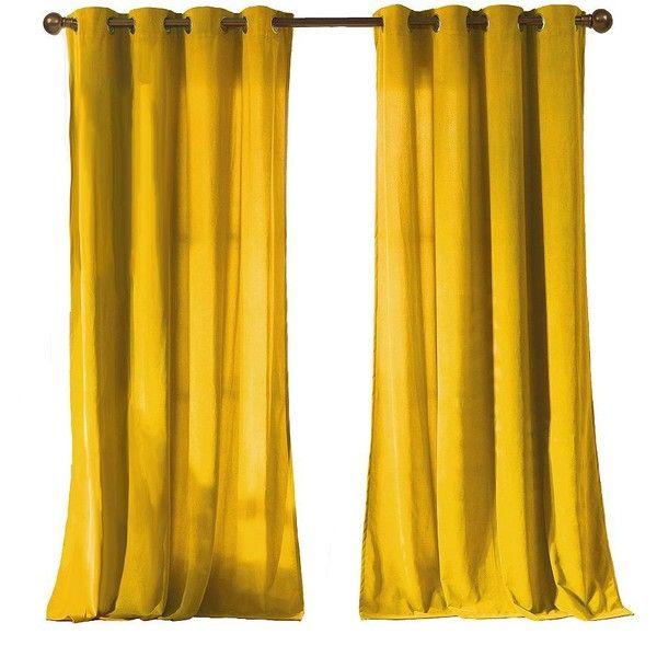 Kensie Madison Velvet Pair Panel Curtains 51 Liked On