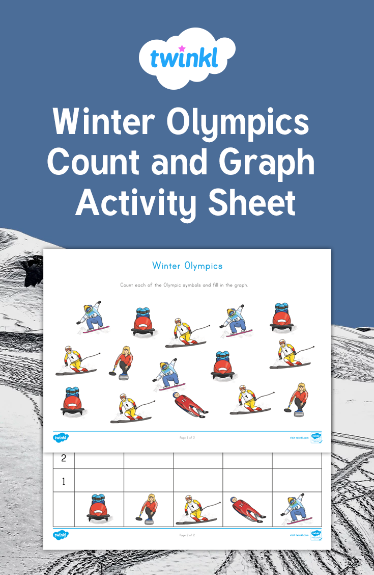 Students will count each of the Winter Olympic symbols and graph the ...