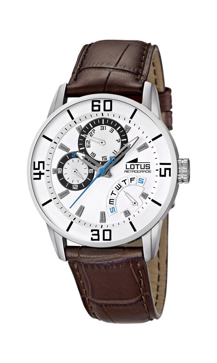 7453ea45392a Lotus 15798 1 - Reloj analógico de cuarzo para hombre con correa de piel
