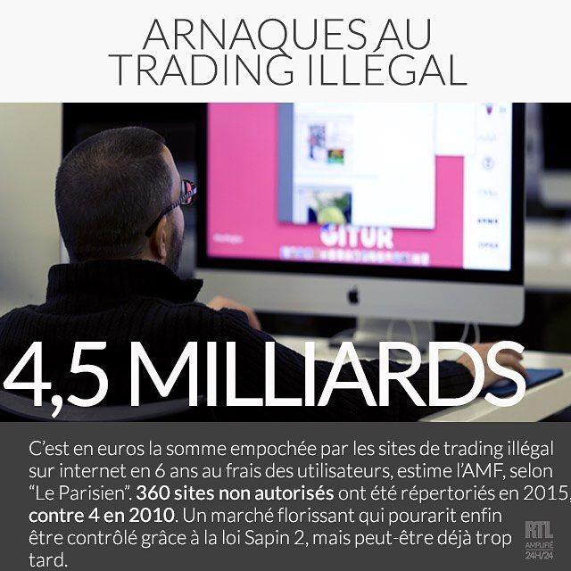 arnaque trading