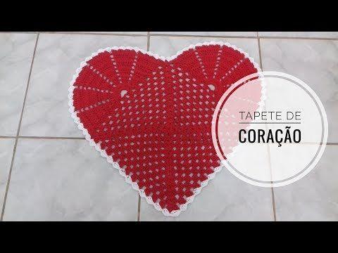 Tapete de Coração em Crochê