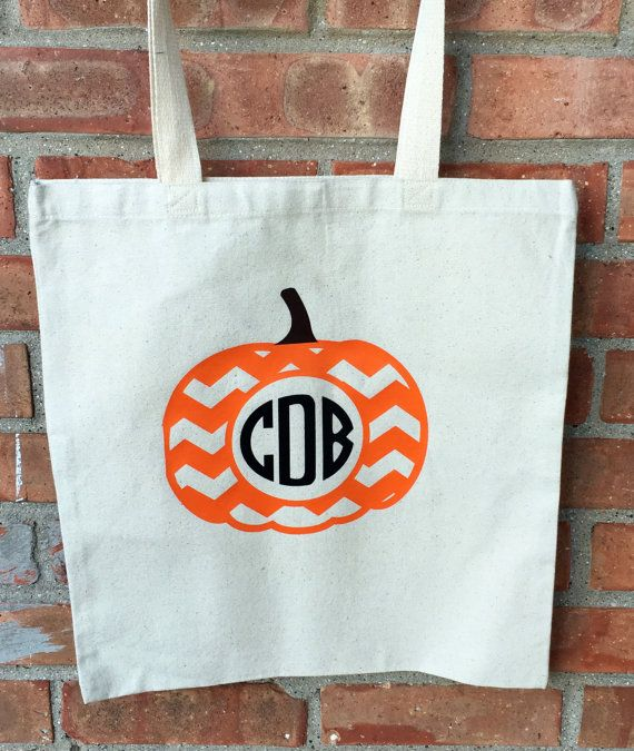 Trick-or-Treat Bags monogramed halloween bags by MamaTried91 - decorate halloween bags