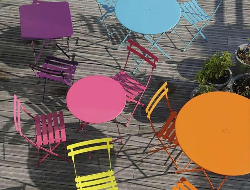 Tavoli Da Esterno Colorati.Tavoli Da Giardino Colorati Showroomdelserramento