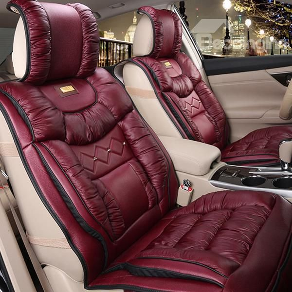 Super Warm High Quality Down Feather Material Car Seat Cover Leather Car Seat Covers Car Seats Carseat Cover
