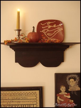 Wall decor..love the redware plate..... | I\'ve been pinned ...