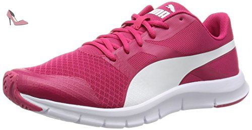 Flexracer - Chaussures de Course - Mixte Adulte - Rouge (RoseRouge/White 06) - 36 EU (3.5 UK)Puma