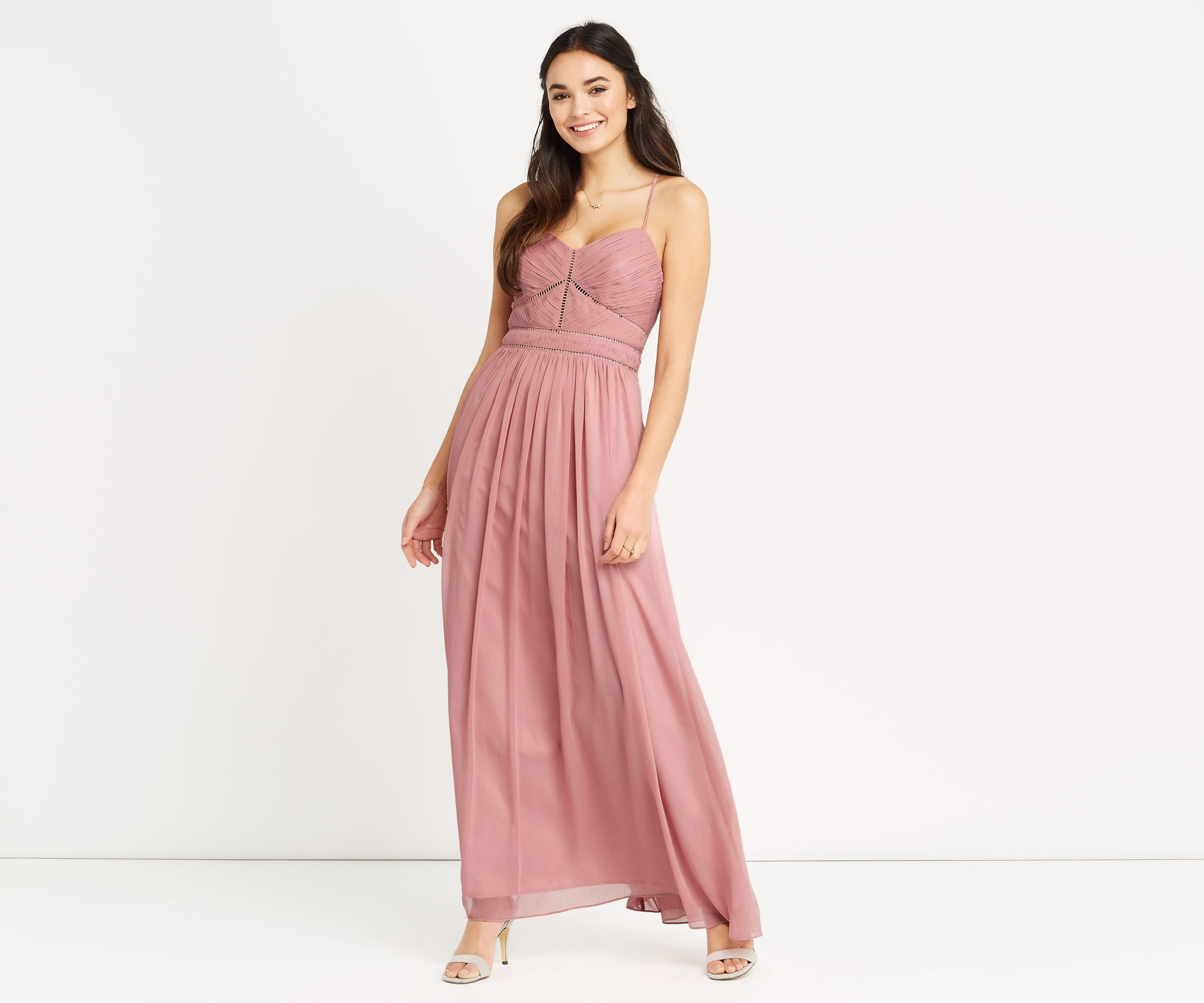 Oasis, TRIMMED CHIFFON MAXI Dusky Pink | The dresses.. | Pinterest