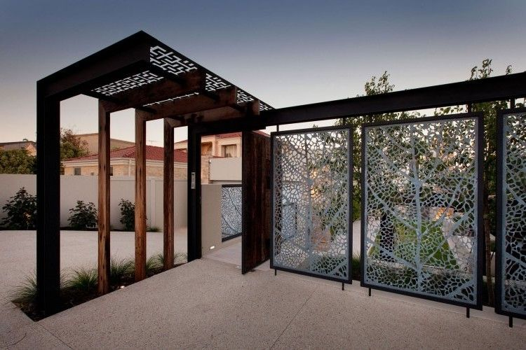 panneau occultant et cl ture brise vue en m tal en 65 id es avantageuses indoor outdoor and. Black Bedroom Furniture Sets. Home Design Ideas