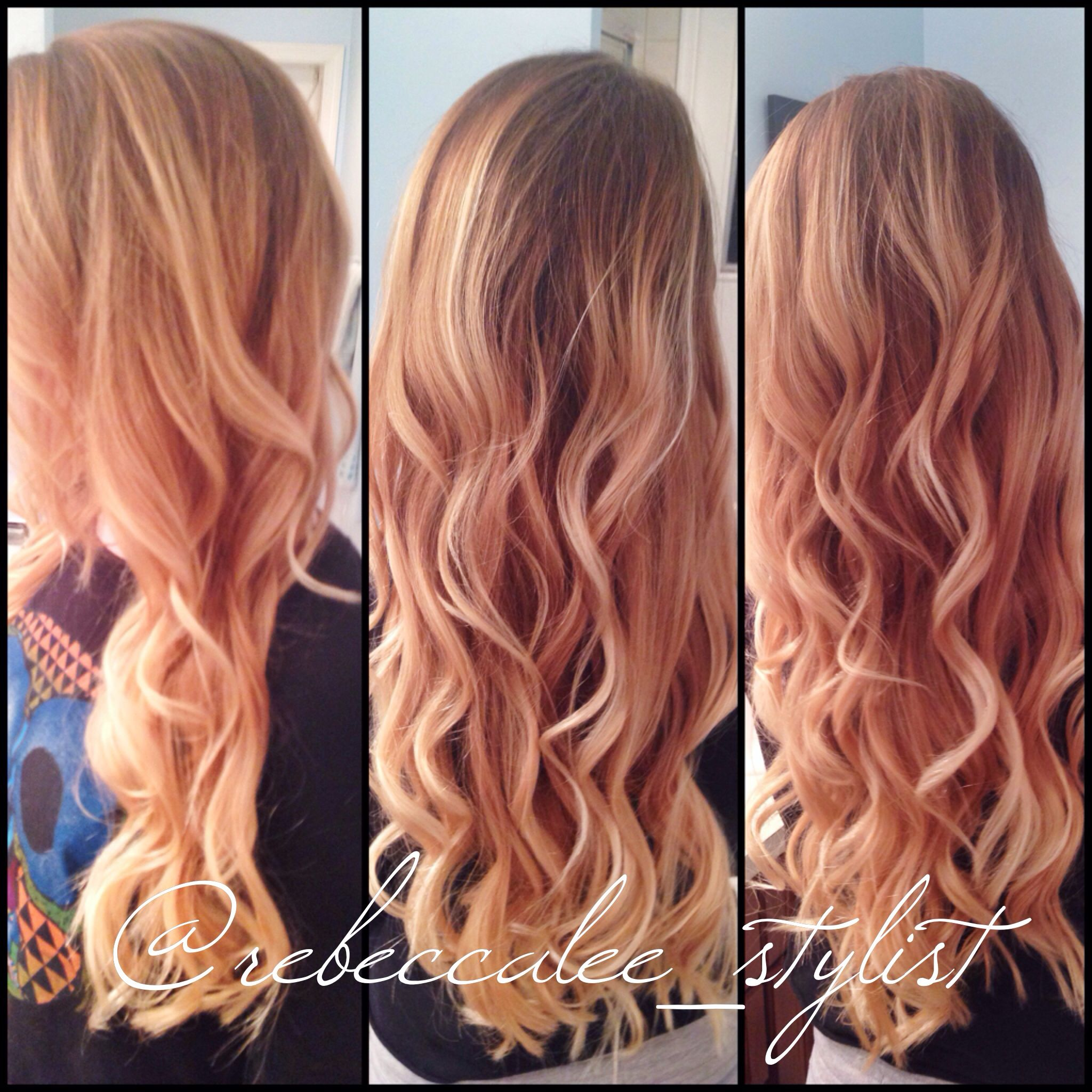 Going Red To Blonde The Inspiration Glamstyles Hair Balayage